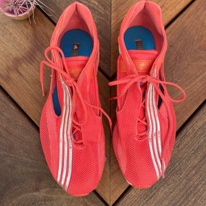 Stella MacCartney Adidas orange running shoes 8.5